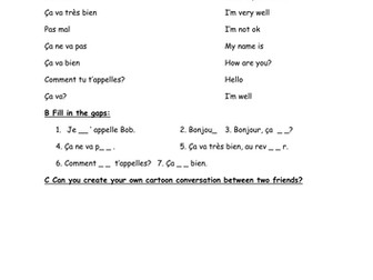 Four Operations Worksheets Excel French Greetings Worksheet By Everybodyeducating  Teaching  Comprehension Worksheets For Grade 8 Word with Alphabets Worksheets For Kindergarten Pdf French Greetings Worksheet By Everybodyeducating  Teaching Resources  Tes Protein Synthesis Review Worksheet Pdf