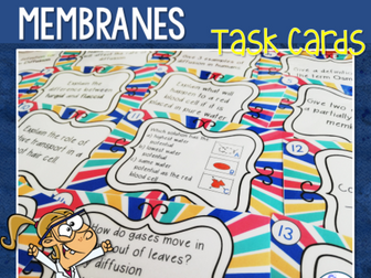 Diffusion, Osmosis & Active Transport Revision Task Cards