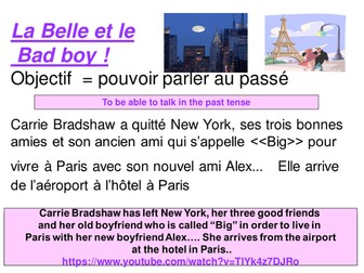 Belle et le Bad-boy - Past Tense in Paris