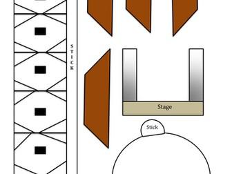 Globe Theatre Paper Model