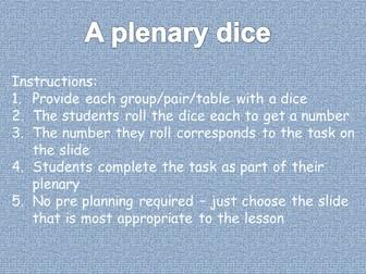 6 generic plenary mats using dice