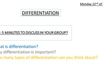 whole school CPD on differentiation in mfl