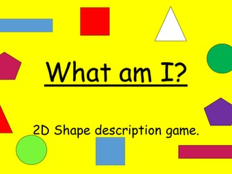 2D shape game
