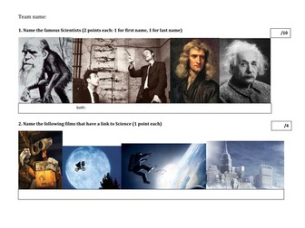 End of year KS3 Science Quiz