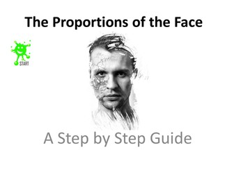 Art resource. The proportions of the face - A step by step guide