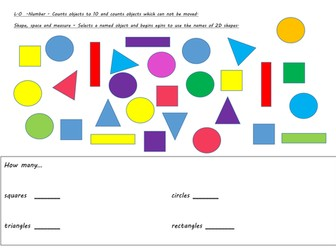 shape counting and recognition worksheet