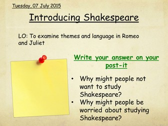 Romeo and Juliet set of lessons and resources