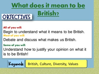 What it means to be British