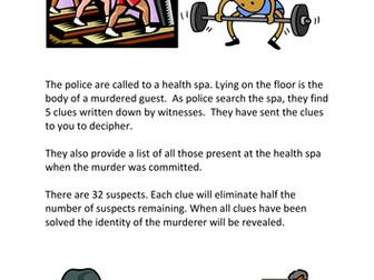 Maths Murder Mystery 1