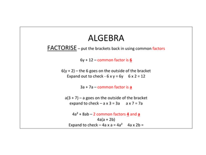 photograph relating to Algebra Flashcards Printable referred to as Maths GCSE Base revision flash playing cards