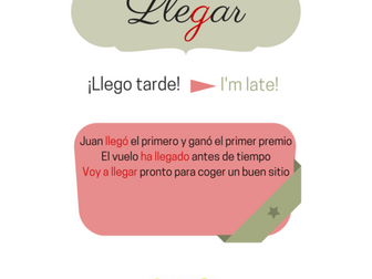"Spanish verb ""llegar"""