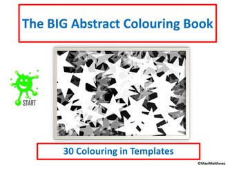 The BIG Abstract Colouring Book