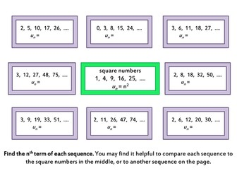 Quadratic Sequences by Comparison