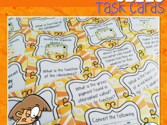 Cells Revision Task Cards