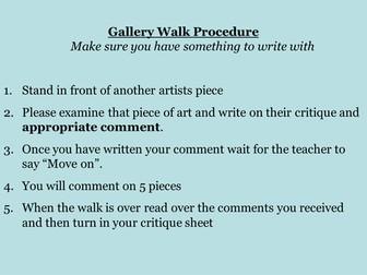 Critique Activity: Gallery Walk