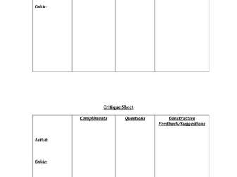 Partner Critique Sheet