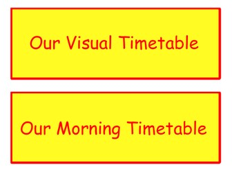 EYFS Visual Timetable