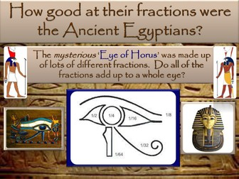 Egyptian unit fractions challenge and word problems worksheet