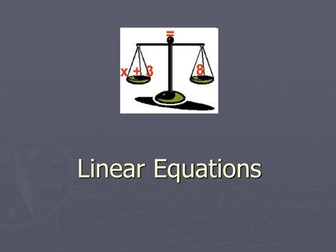 Introduction to Linear Equations resources