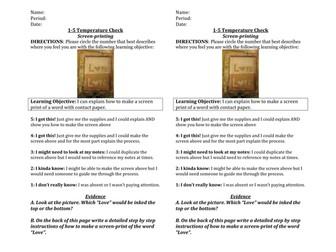 1-5 Temperature Check: Screen Printing