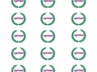 Latin assessment sticker labels