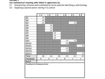 National 5 Mathematics Applications Assessment