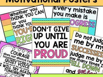 Growth Mindset Motivational Posters