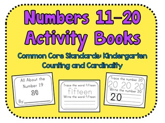 Numbers 11–20 Activity Books. CCS: Kindergarten Counting and Cardinality