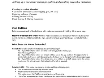 Creating Accessible Materials for Visually Impaired & Blind Students Using Your iPad, iPhone, & iPod