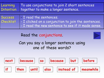 Conjunctions (Connectives) PowerPoint