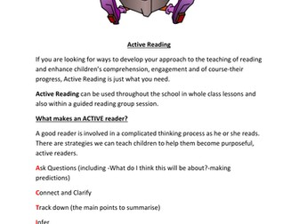 Active Reading-Comprehension or Guided Reading Activities