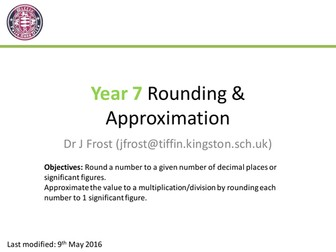 Rounding and Approximation
