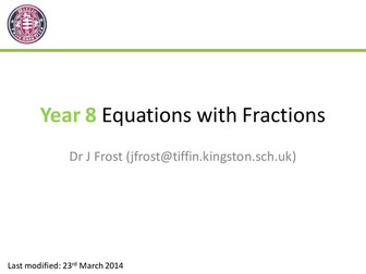 Equations with Fractions