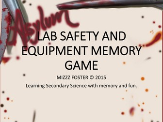 Asylum Lab Safety and Equipment Memory Game