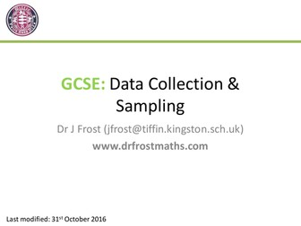 GCSE - Data Collection
