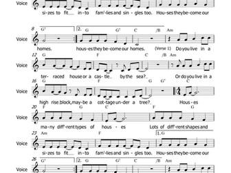 Houses - Song (MP3 & Score) John Oates