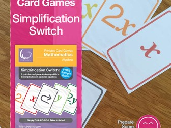 Simplification Switch FREE card gameon Collecting Like Terms