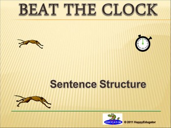 Sentence Structure Beat the Clock