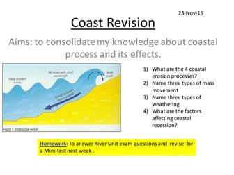 Edexcell Geography A - Coast Revision