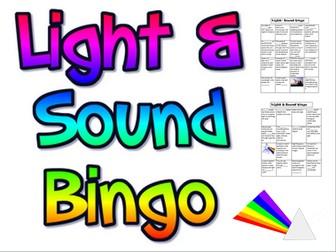 Light and Sound bingo