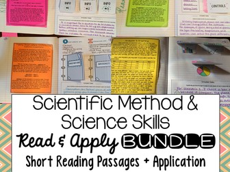 Scientific Method & Science Skills Read and Apply Interactive Notebook Activities BUNDLE