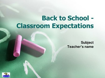 Back to School Classroom Expectations PowerPoint