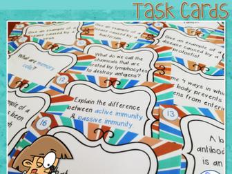 Pathogens & Immunity Task Cards