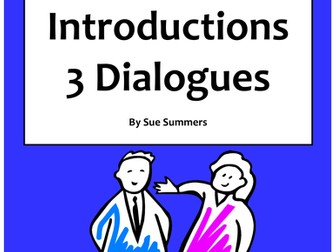 Spanish Introductions, Greetings and Leave Takings 3 Dialogues / Spanish Skit