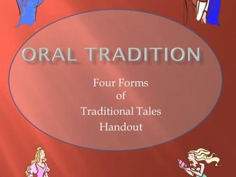 Myths, Legends, Fables and Folktales