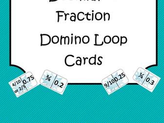 Decimal to Fraction Domino Loop Cards