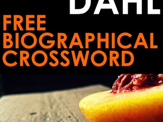 Roald Dahl Biography Crossword