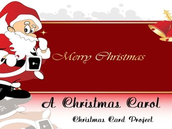 A Christmas Carol Christmas Card Project