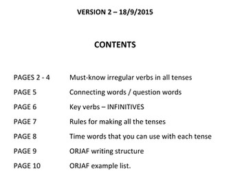 GCSE French Controlled Assessment Complete Writing Guide