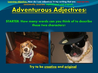 Adventurous Adjectives!